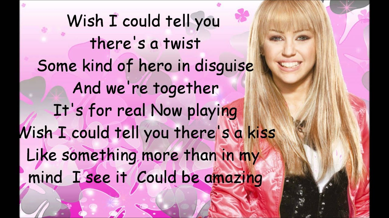 hannah montana if we were a movie lyrics youtube