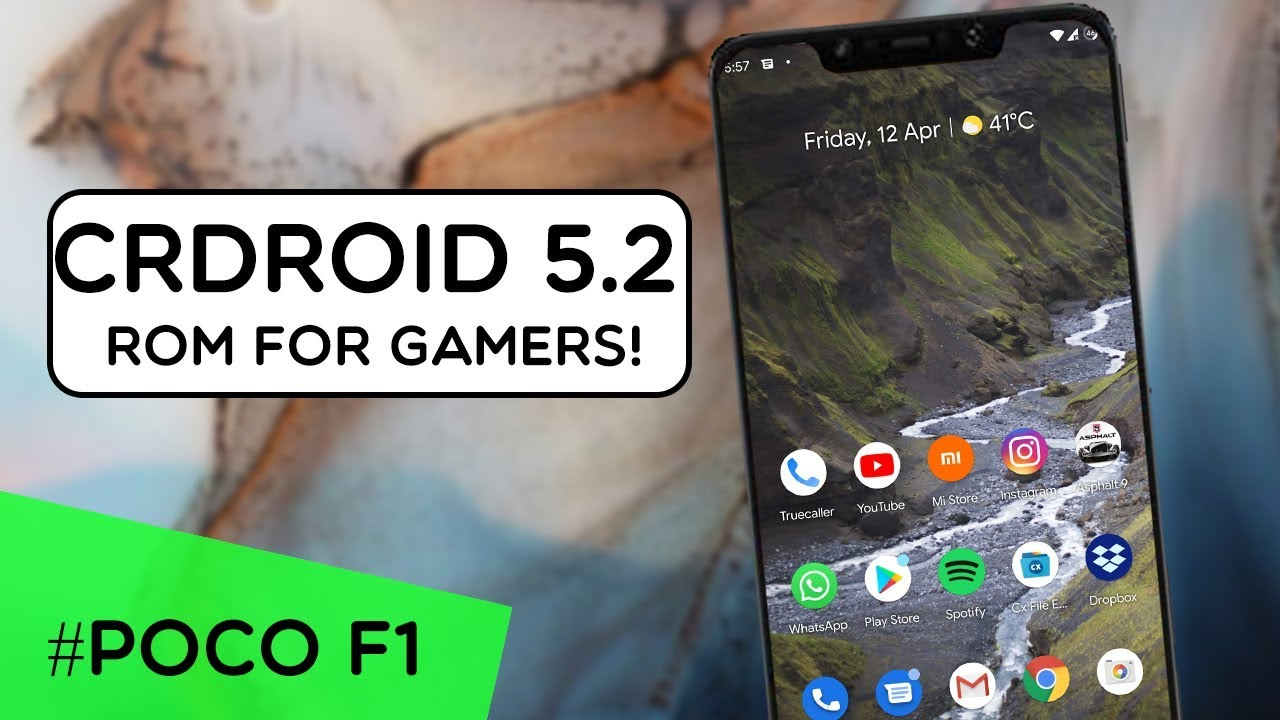 CRDROID OFFICIAL ROM (Android 9 0 Pie) For Poco F1| REVIEW | HIGH  Performance ROM FOR GAMING ?