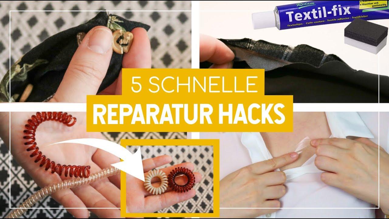 SO SCHNELL reparierst du Haargummis, Kleidung & Co. OHNE NÄHEN 😊 5 Hacks, die du kennen solltest