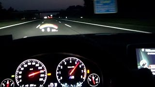 BMW M6 Onboard Night Ride on Autobahn Driver View Acceleration F12 Cabrio V8 Sound Kickdown