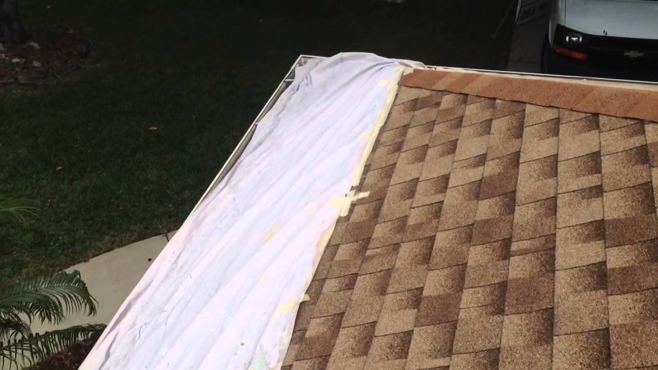 How i protect a roof from overspray when using an airless for How to get paint off siding