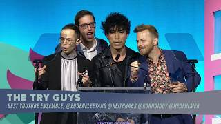 The Try Guys win Best YouTube Ensemble || Shorty Awards 2019