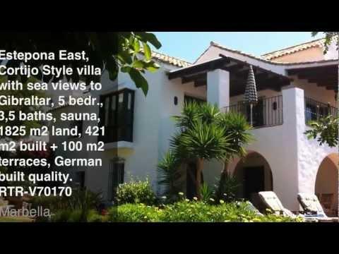 REDUCED: Estepona, German Built Quality Cortijo Style Villa with Gibraltar Views, RTR-V70170