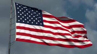 American Flag waving | Free HD stock footage with National Anthem sung by Videographer