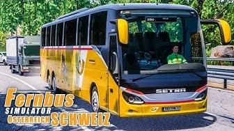 FERNBUS SIMULATOR Schweiz Österreich #80 - Postauto in LUZERN! FBS Platinum