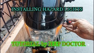 How to install HAZARD Switch on Motorcycle