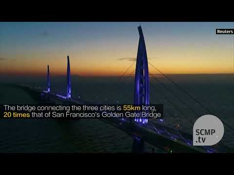 Hong Kong-Zhuhai-Macau Bridge lights up for 2018