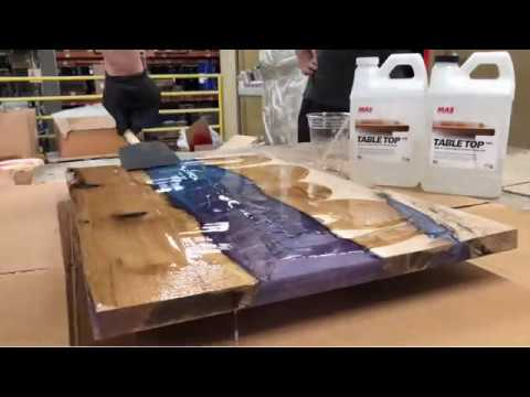 Epoxy River Table with MAS Epoxies Table Top Pro