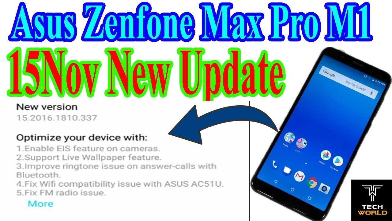 Asus Zenfone Max Pro M1 15 Nov Update With Live Wallpaper, EIS Feature And More - YouTube