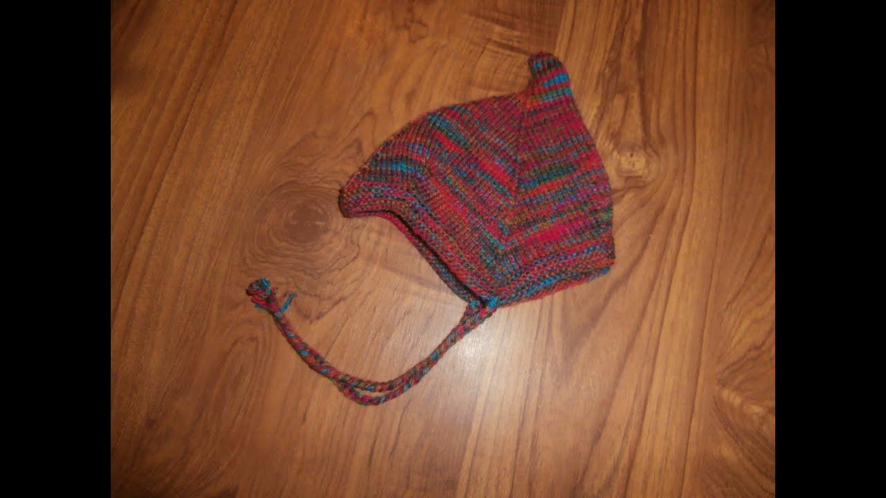 tuto tricot layette bonnet bébé 3/6 mois explications pendant le diaporama  , YouTube