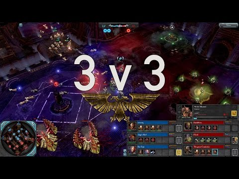 Dawn of War 2 - 3v3 | zeetorq + Angry Bird + Ser Topi [vs] DarkHero + Floid + The great Cornholio