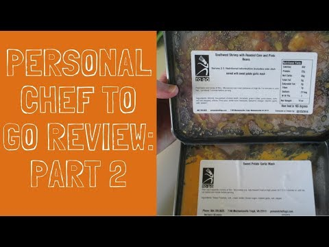 Personal Chef to Go Reviews Video Pt 2 - Healthy Food Delivery Service!