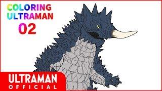 【ウルトラマンタイガ】ウルトラ凄いぬりえ『COLORING ULTRAMAN』#02「吸血怪獣 ギマイラ」お絵かき動画