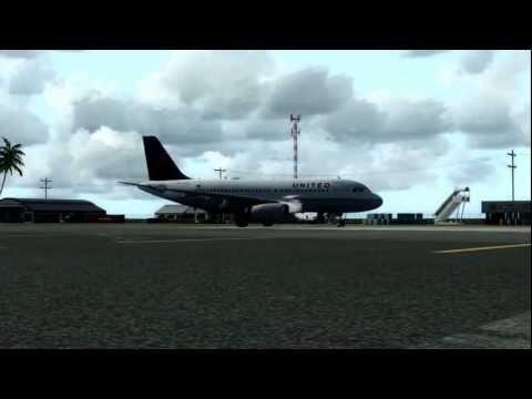 Landing at Majuro Atoll Marshall Islands