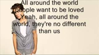 Justin Bieber All Around the World) ft Ludacris (Lyrics) (Download)