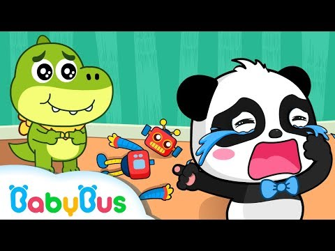 Baby Panda Kiki Crying in Kindergarten | Play with Toy Robot | Animation & Kids Songs | BabyBus