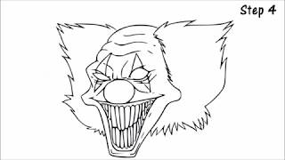 how to draw killer clowns tutorials and online canvas
