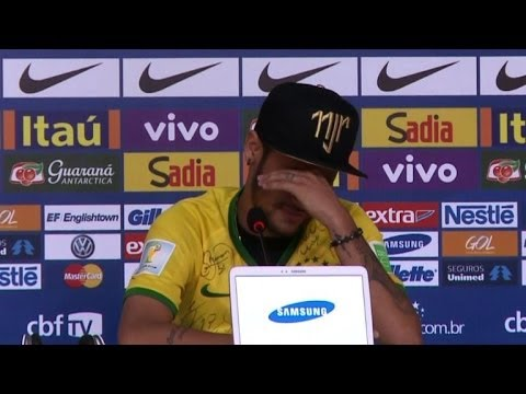 Tearful Neymar relives tackle that left him injured