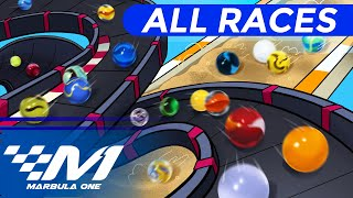 Marble Racing: Marbula One S2 ALL RACES!