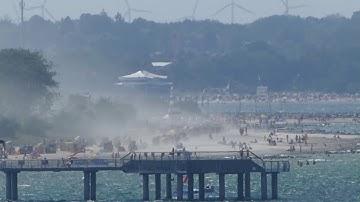 Timmendorfer Strand in der Gluthitze Sommer 2019