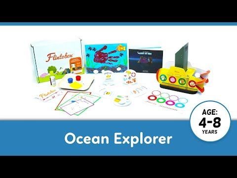 Ocean Explorer (2018) | Activity Boxes for 4-8 Year Olds | Flintobox Themes