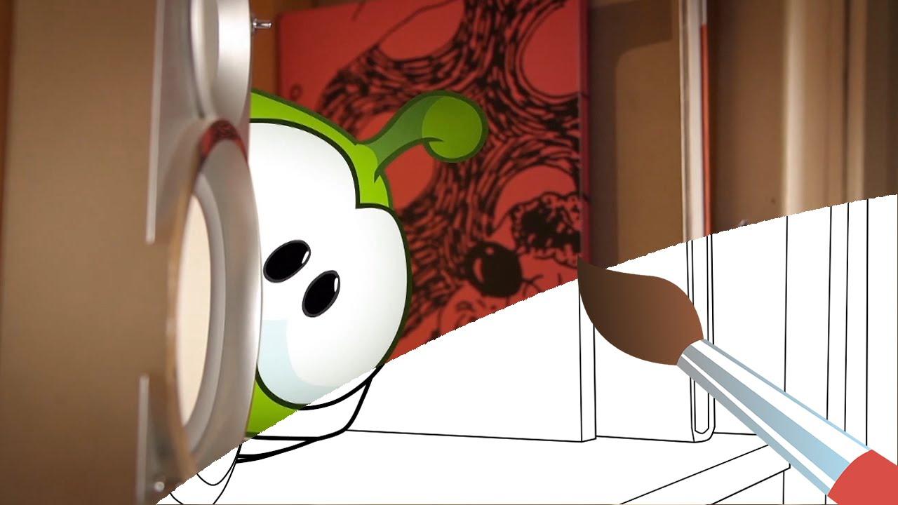 Мультик - раскраска - Учим цвета - Ам Ням и робот ...