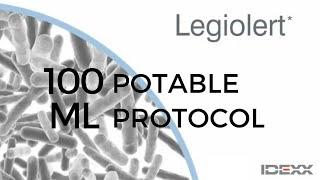 Legiolert 100mL Potable protocol