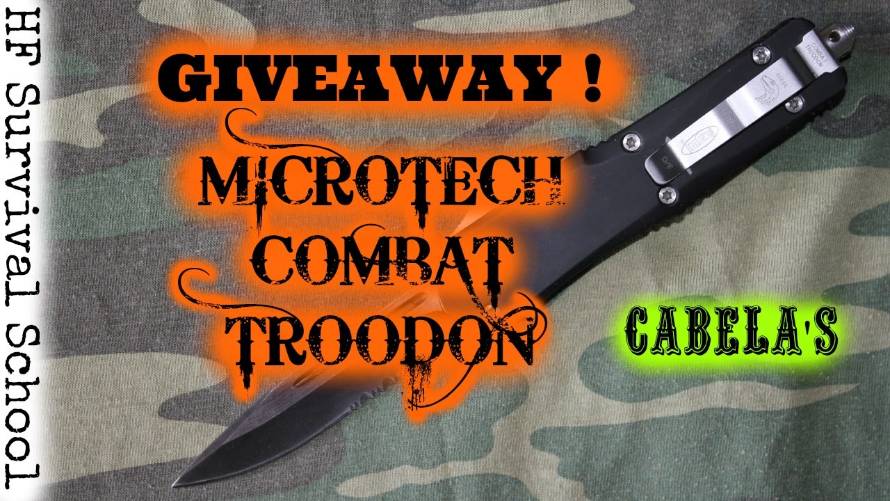 International Giveaway - Cabelas And Microtech Giveaway