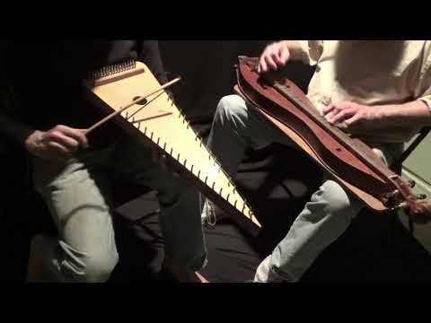 Peacock's Feather mtn dulcimer + bowed psaltery
