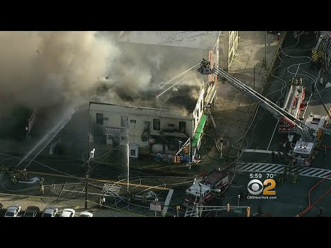 Firefighters Battle Jersey City Blaze