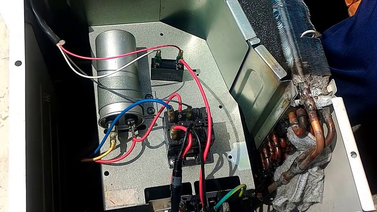 hight resolution of how to service ac at home change a contactor youtubehow to service ac at