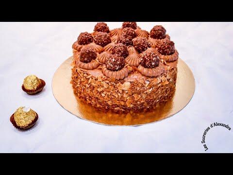 gâteau-aux-ferrero-rochers®-(recette-très-facile).