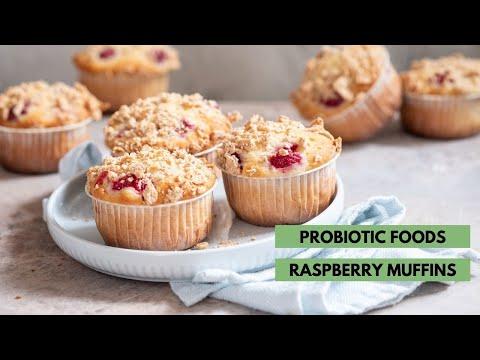 probiotic-foods-raspberry-muffins