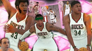 NBA 2K18 My Team THREE NEW PINK DIAMONDS! IVERSON, GIANNIS & KAREEM! WHAT A COMBO!