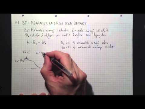 mekanisk energi teori