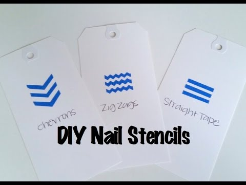 How To Make Your Own Nail Stencils Using Painters Tape