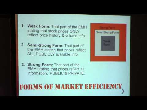 Grade 12 Finance - Efficient Market Hypothesis