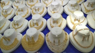 Latest Saudi Gold Necklace Set Collection