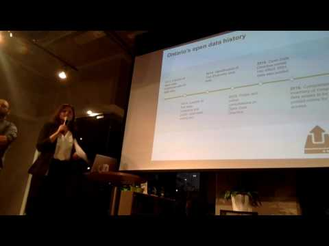 Hacknight #62: Cara Dowden and Paul Vet from Ontario's Open Government Office