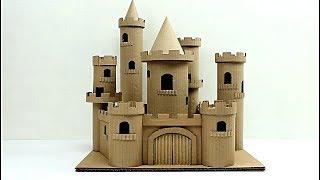 cómo hacer un castillo de cuento con cartón (how to make a cardboard story castle)