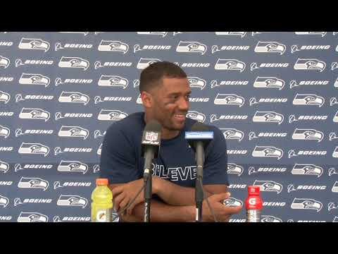 Seahawks Quarterback Russell Wilson Preseason Week 4 Press Conference