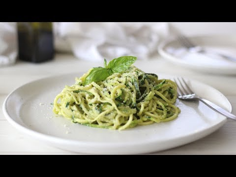 Zoodles Recipe with Avocado Pesto | How to Make Zucchini Noodles