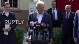 Turkey  PM Yildirim casts vote in constitutional referendum