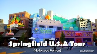[HD] Now Open! Full Tour of the Simpsons Springfield Land at Universal Studios Hollywood