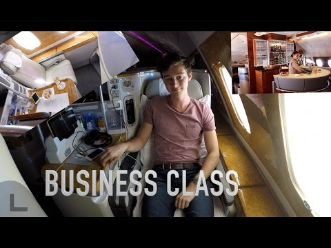 EMIRATES A380 BUSINESS CLASS FLIGHT REVIEW