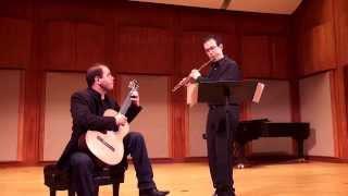 Astor Piazzolla - Cafe 1930 for Flute & Guitar - Marco Granados, Felippe Santos