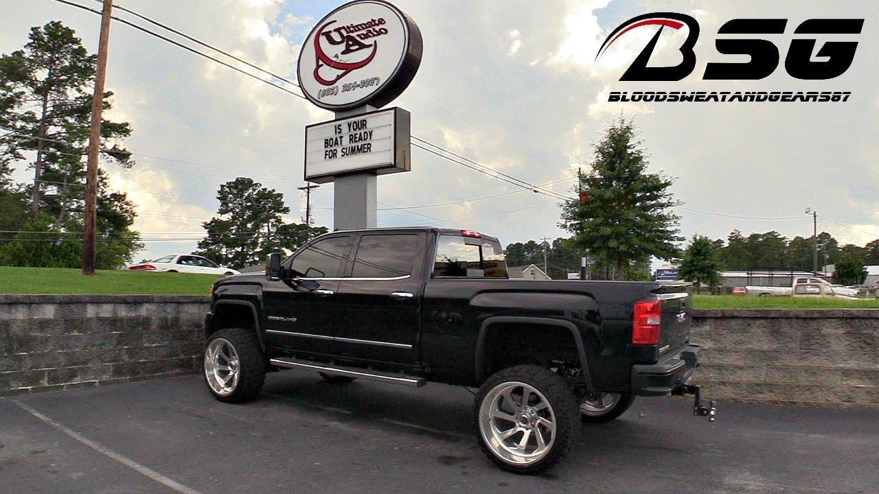 Gladiator Off Road Tires >> GMC Sierra Denali HD on 26x14 Fuel Off-Road Wheels w/ 37x13.50R26LT Gladiator X Comp M/T (Mud ...