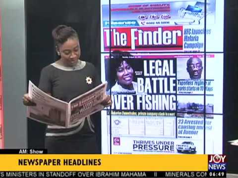 AM Show Newspaper Headlines on JoyNews (22-8-17)