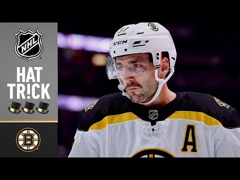 Patrice Bergeron earns the hat trick against the Islanders