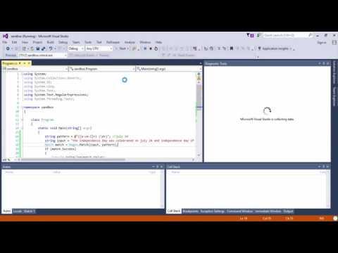 (Regex) Regular expressions in C#.net 2016